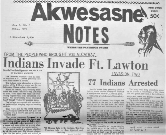 akwesasne notes lawton